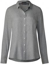 Street One Shirt Blouse, Blusa Donna, Grau (Cyber Grey Melange 10767), 46
