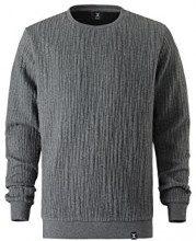 One Piece Sweater London, Felpa Unisex-Adulto, Grigio (Dark Grey Mel), Medium