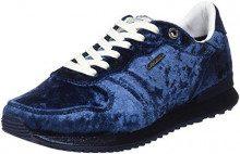 Pepe Jeans London Gable Velvet, Scarpe da Ginnastica Basse Donna, Blu (Navy 595), 37 EU