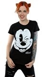 Disney Donna Mickey Mouse Distressed Face Maglietta