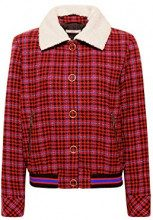 edc by Esprit 098cc1g031, Giacca Donna, Rosso (Red 630), Large