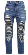 RIOT - Jeans baggy - marbelled indigo