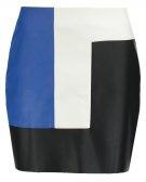 JEMOT - Minigonna - noir/bleu/blanc