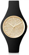 Orologio da Donna Ice-Watch, Ice Glitter, Oro Nero, Taglia S