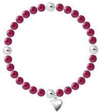 Pearls & Colors Donna Argento 925 Argento rotonda rotonda Cinese d'acqua dolce coltivata Red perla