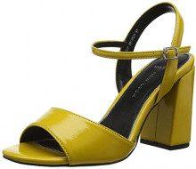 New Look Wide Foot Timothy, Scarpe col Tacco Punta Aperta Donna, Giallo (Dark Yellow 87), 37 EU