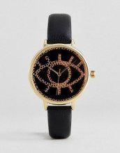 Orologio con design a occhio testurizzato
