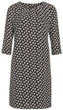 APART Fashion Kleid, Vestito Donna, Nero (Schwarz-Creme-Cranberry), 44