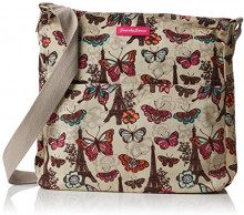 SwankySwansNoel Paris Butterfly Floral Large - Borsa a tracolla donna, Beige (Beige (Beige)),