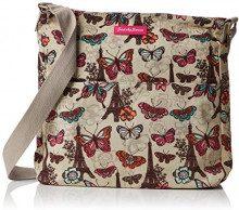 SwankySwansNoel Paris Butterfly Floral Large - Borsa a tracolla donna, Beige (Beige (Beige)),