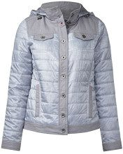 Cecil 200344, Cappotto Donna, Grigio (Silver Grey Denim Optic 11220), Small