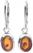 InCollections 0630260081980 - Orecchini pendenti da donna con ambra, argento sterling 925