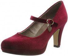 s.Oliver 24410-31, Scarpe con Tacco Donna, Rosso (Dark Red 505), 40 EU