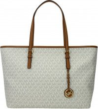 Borse a Spalla Michael Kors jet set travel md Donna Beige
