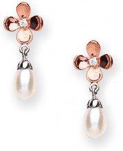 GOLDMAJOR - Orecchini, Ossido di zirconio, perla, Argento Sterling 925