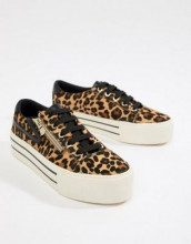 Sneakers con zip e stampa maculata