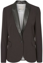 Blazer Scarlett, collo in simili-pelle