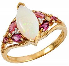 Ivy Gems Donna 925 argento Marquise multicolore Opale Tormalina