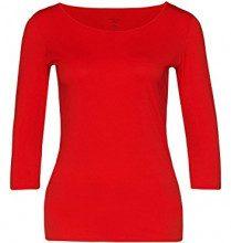 Marc Cain Essentials - MarcCainDamenT-Shirts+E4812J03, t-shirt Donna, Rot (scarlet 272), 36 (2)