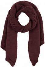 PIECES Pcdace Long Wool Scarf Noos, Sciarpa Donna, Rosso Winetasting, Taglia Unica