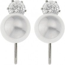 Ornami Donna 925 Argento Ronde bianco FINEEARRING
