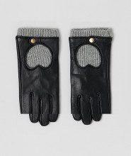Guanti touch screen in maglia e pelle