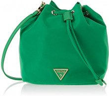 Guess Did I Say 90, Borsa a Secchiello Donna, Verde (Green), 28x22x13 cm (W x H x L)
