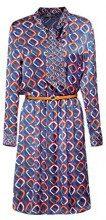 ESPRIT Collection 108eo1e018, Vestito Donna, Blu (Navy 400), 46 (Taglia Produttore: 40)