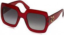 Gucci GG0053S 003, Occhiali da Sole Donna, Rosso (Red/Grey), 54
