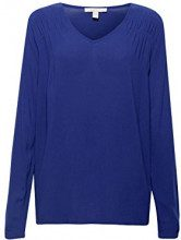 ESPRIT 088ee1f001, Camicia Donna, Blu (Navy 400), 42