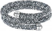 Bangle doppio Crystaldust, grigio, acciaio inossidabile