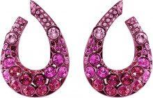 Orecchini Magnetized, multicolore, Placcatura laccata rosa