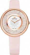 Orologio Crystalline Pure, Cinturino in pelle, rosa, tono oro rosa