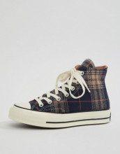 Chuck 70 - Sneakers alte blu navy a scacchi