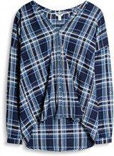 ESPRIT 037ee1f014, Camicia Donna, Multicolore (Navy), 38