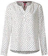 Street One QR Hedda, Camicia Donna, Weiß (off White 30108), 46 (Taglia Produttore: 40)