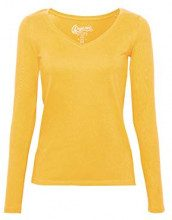 edc by Esprit 088cc1k013, Maglia a Maniche Lunghe Donna, Giallo (Honey Yellow 4 713), X-Small