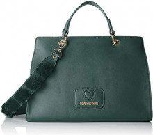Love Moschino Borsa Pu+poliestere - Borse a secchiello Donna, Verde, 13x24x33 cm (B x H T)