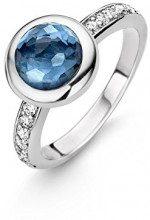 TI SENTO MILANO anello 12011DB, taglia L (diametro 16,3 mm), altro, Blue, 14