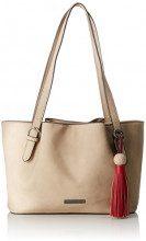 Tamaris Natalie Shoulder Bag - Borse a spalla Donna, Beige (Pepper Comb), 10x23x34 cm (B x H T)