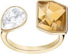 Anello con motivo Prisma, placcatura oro