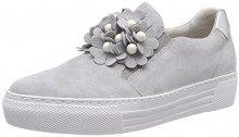 Gabor Shoes Comfort Basic, Scarpe Stringate Derby Donna, Grigio (Light Grey/Silber), 38.5 EU