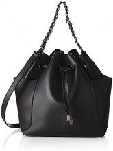 PIECES Pcfreja Bag - Borse a spalla Donna, Nero (Black), 13x32x30 cm (B x H x T)