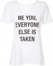 T-shirt con stampa frontale e scollo sulla schiena PZ04