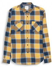 edc by Esprit 108cc2f006, Camicia Uomo, Giallo (Yellow 750), Medium