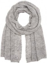Tom Tailor Hairy Knit Scarf, Sciarpa Donna, Argento (Silver Melange 2527), Taglia unica