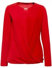 ESPRIT Collection 998eo1k804, Maglia a Maniche Lunghe Donna, Rosso (Red 630), Large