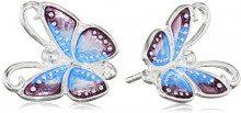 Heartbreaker LD FP 21 Orecchini da donna in argento 925, smaltati, colore: viola